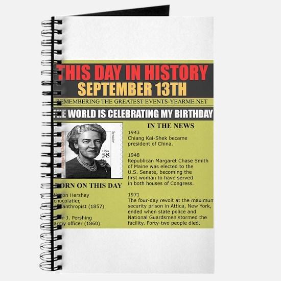 september 13th-birthday Journal