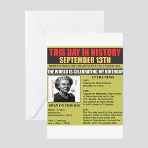 september 13th-birthday Greeting Card