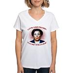 Gas Prices (anti-Pelosi) Women's V-Neck T-Shirt