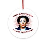 Gas Prices (anti-Pelosi) Ornament (Round)