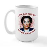 Gas Prices (anti-Pelosi) Large Mug