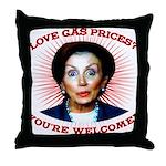 Gas Prices (anti-Pelosi) Throw Pillow