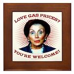 Gas Prices (anti-Pelosi) Framed Tile