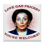 Gas Prices (anti-Pelosi) Tile Coaster