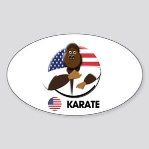 karate Oval Sticker