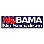 NObama, No Socialism bumper sticker