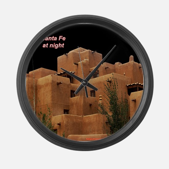 Santa Fe at Night Large Wall Clock