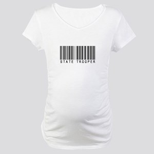 State Trooper Barcode Maternity T-Shirt