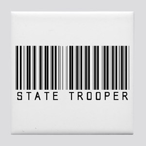 State Trooper Barcode Tile Coaster