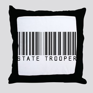 State Trooper Barcode Throw Pillow
