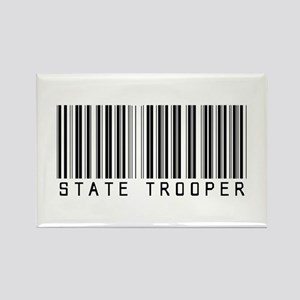 State Trooper Barcode Rectangle Magnet