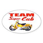 Team Super Cub Oval Sticker