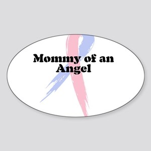 Mommy of an Angel Oval Sticker