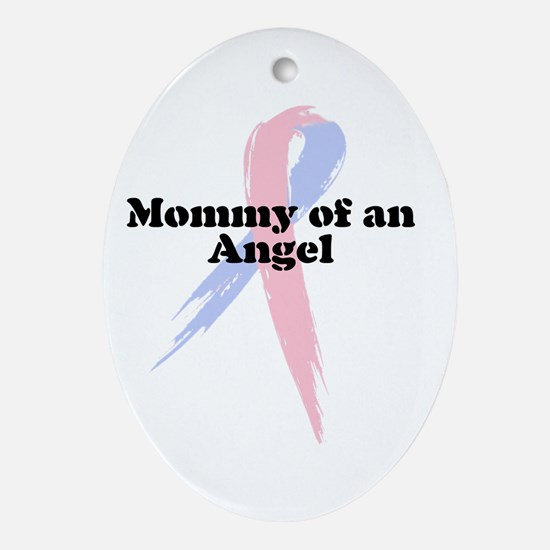 Mommy of an Angel Oval Ornament