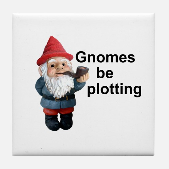 Gnomes be plotting Tile Coaster