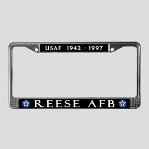 Reese AFB License Plate Frame