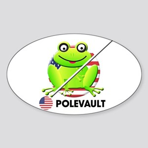 pole vault Oval Sticker