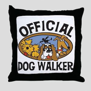 Official Dog Walker Throw Pillow