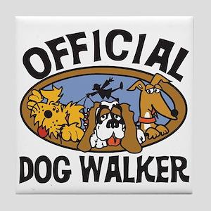 Official Dog Walker Tile Coaster