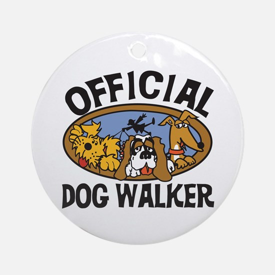 Official Dog Walker Ornament (Round)
