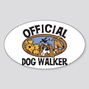 Official Dog Walker Oval Sticker