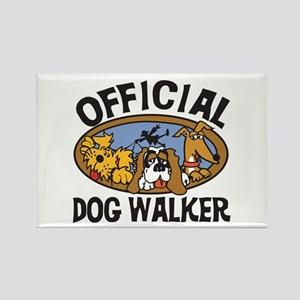 Official Dog Walker Rectangle Magnet