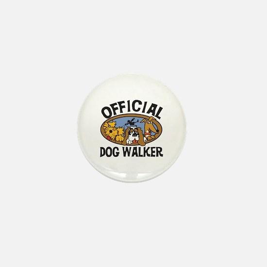 Official Dog Walker Mini Button