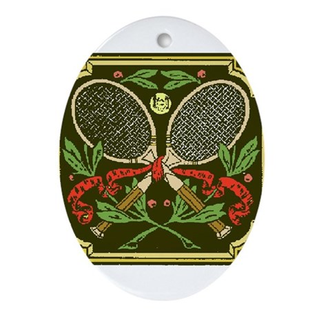 Tennis Insignia - Oval Ornament