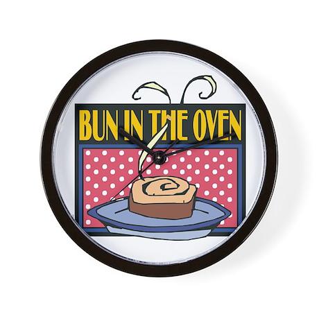 Bun in the Oven Wall Clock