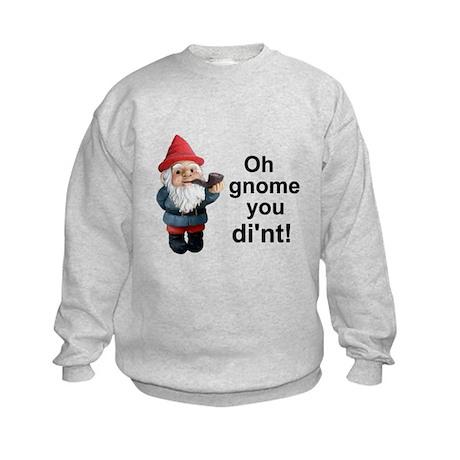 Oh gnome you di'nt! Kids Sweatshirt
