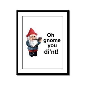 Oh gnome you di'nt! Framed Panel Print