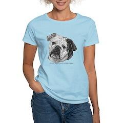 Nikki, English Bulldog Women's Light T-Shirt