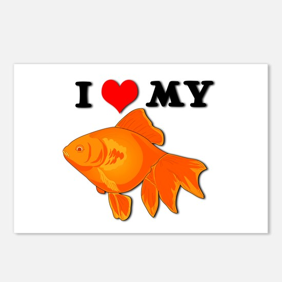 I Love my Goldfish Postcards (Package of 8)