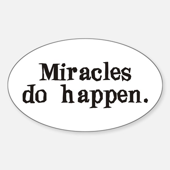 Miracles Oval Decal
