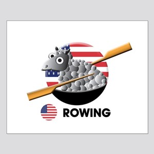 rowing Small Poster
