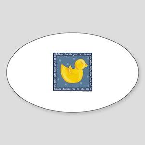 Rubber Duckie Oval Sticker