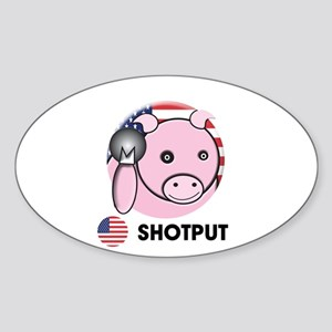 shot put Oval Sticker