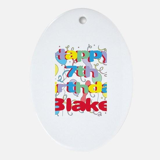 Blake's 7th Birthday Oval Ornament