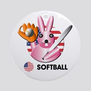 softball Ornament (Round)