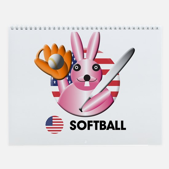 softball Wall Calendar