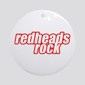 Redheads Rock Ornament (Round)