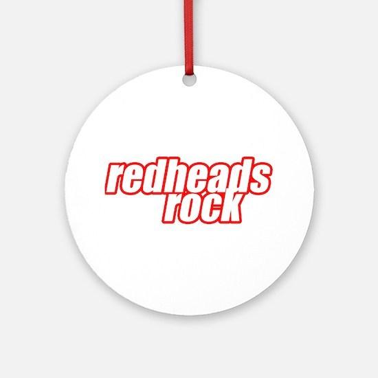 Redheads Rock Ornament (Round)