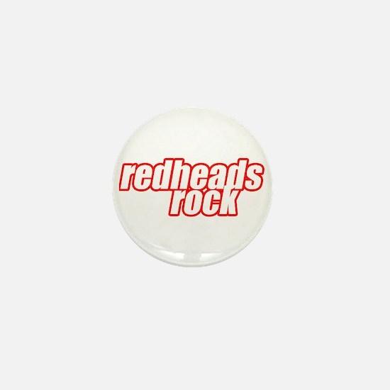 Redheads Rock Mini Button
