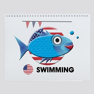 swimming Wall Calendar