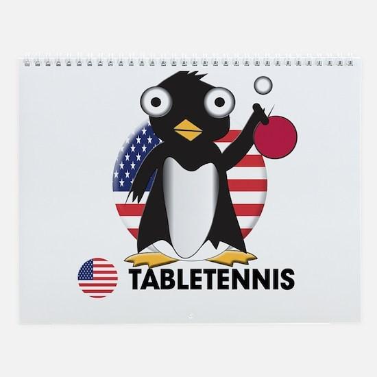 tabletennis Wall Calendar