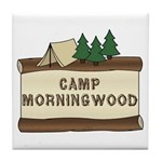 Camp Morningwood Tile Coaster