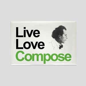 Mahler's Live Love Compose Rectangle Magnet