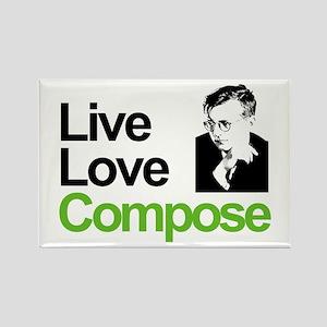 Shosti's Live Love Compose Rectangle Magnet