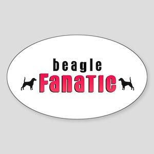Beagle Fanatic Oval Sticker