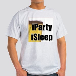 iParty, iSleep Ash Grey T-Shirt